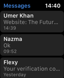 Access Web Pages on Apple Watch with SMS 2