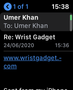 Access Web Pages on Apple Watch with Mail 5
